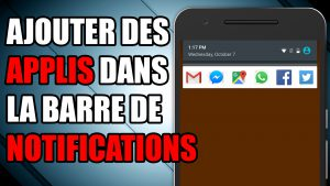 raccourcis barre de notifications application contacts accès