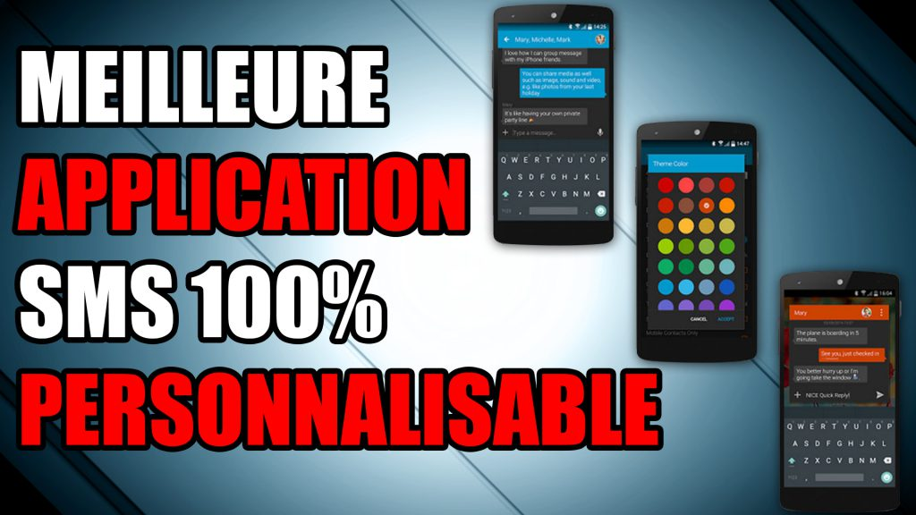 textra meilleure application sms personnalisable messagerie