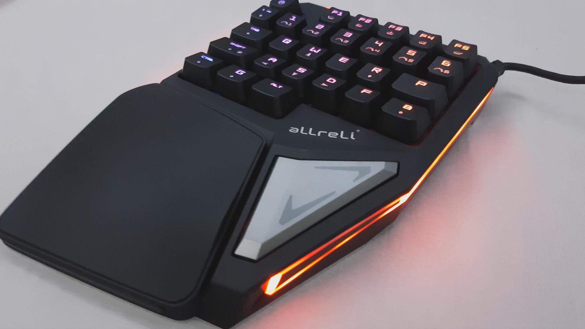 un clavier gamer personnalisable utilisable une main allreli t9 plus. Black Bedroom Furniture Sets. Home Design Ideas