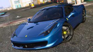 ferrari 458 italia gta v 3d model