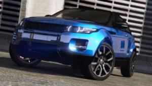 ranger rover evoque 3d model gta v